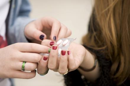 Teens sharing photos
