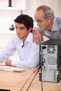 Help Your Teens DadSonComputer-200x300 Teen and Parent Communication: Starting the Conversation