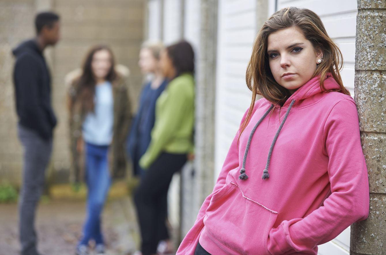 Defiant teenage girls, gang models